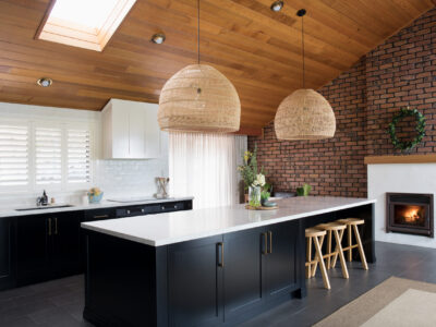 Modern country style kitchen designed by Elska Interiors and Missives Design Studio.